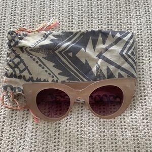 Minkpink Light Pink, Taupey Cat Eye Sunglasses